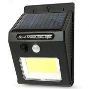 Luminária Solar Externa 24 Led Cob c/ Sensor De Movimentos