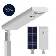 Luminária Solar Pública 30W All in One EIM Economy para Postes 3 a 4 mt