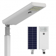 Luminária Solar Pública 50W All in One EIM Economy para Postes 5 a 6 mt