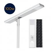 Luminária Solar Pública Eiffel Integrada 100W para Postes 8 a 10 mt