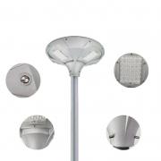 Luminária Solar UFO 20W para Postes 2 a 3 mt 2000 Lúmens