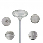 Luminária Solar UFO 30W para Postes 3 a 4 mt 3000 Lúmens