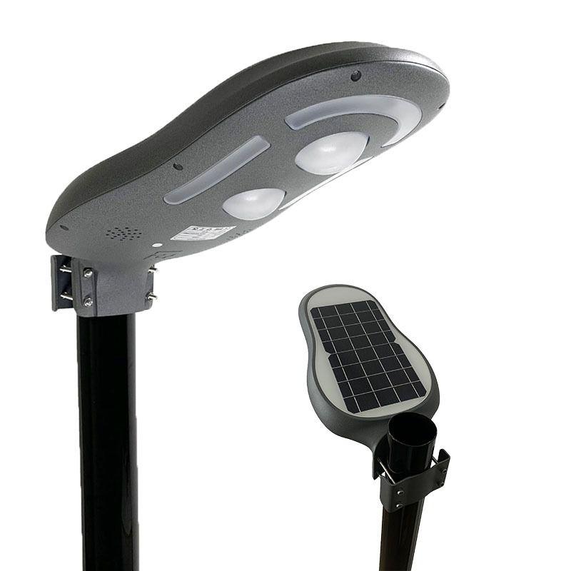 Luminária Solar Pública 12W, 900 Lúmens para Poste de Até 3mt