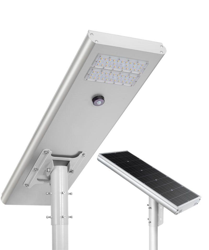 Luminária Solar Pública Eiffel Integrada 50W para Postes 5 a 6 mt