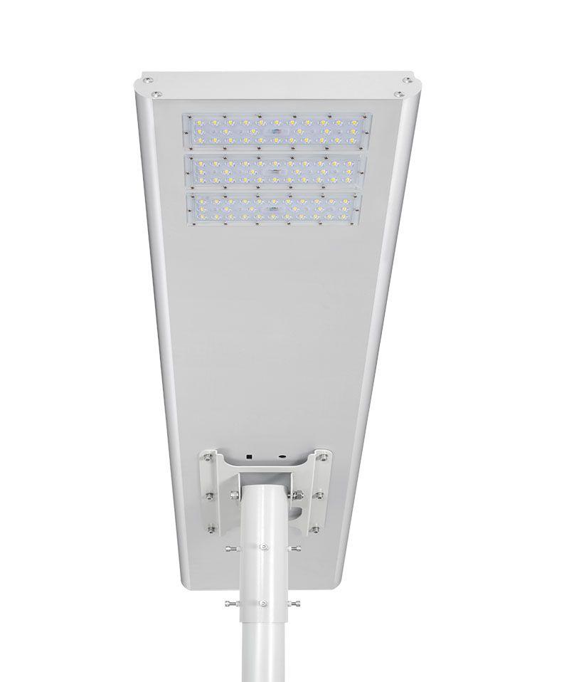 Luminária Solar Pública Eiffel Integrada 80W para Postes 7 a 8 mt