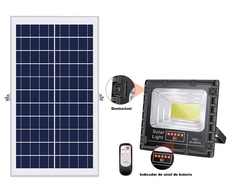 Refletor Solar 25W com Controle Remoto