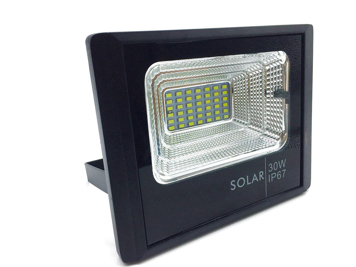 Refletor Solar 30W com Controle Remoto