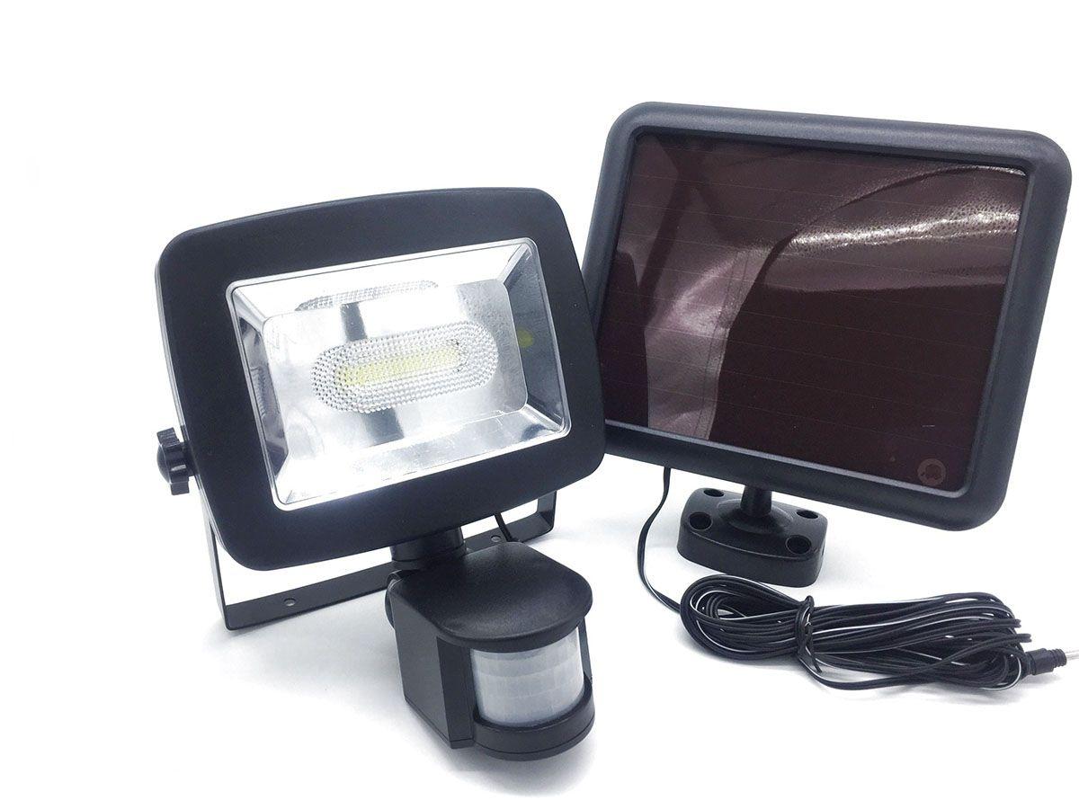 Refletor Solar 5W com Sensor de Presença 500 Lúmens
