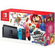 Console Nintendo Switch 32GB Neon Bundle Super Mario Party