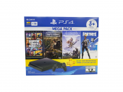 Console Playstation 4 Slim 1TB Mega Pack Bundle v6 + PSN Plus