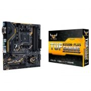 Placa Mãe Asus  AM4 Tuf B350M-Plus Gaming 4xDDR4, VGA, DVI-D, HDMI, SATA