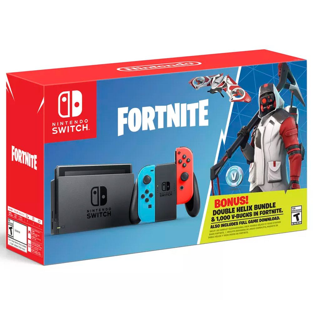 Console Nintendo Switch 32GB Neon Bundle Fortnite