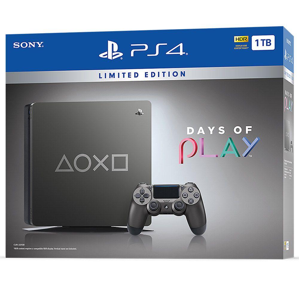 Console PlayStation 4 1TB Days OF Play - STEEL Gray - Edição Limitada
