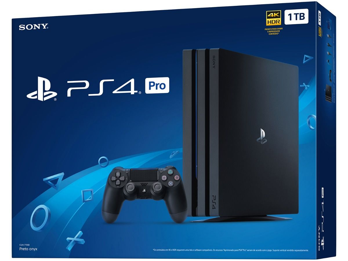 Console Sony Playstation 4 Pro 4K HDR Preto