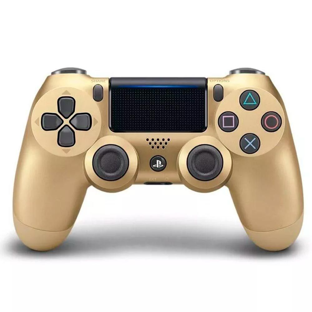 Controle Sony Sem Fio Dualshock 4 PS4 - Dourado