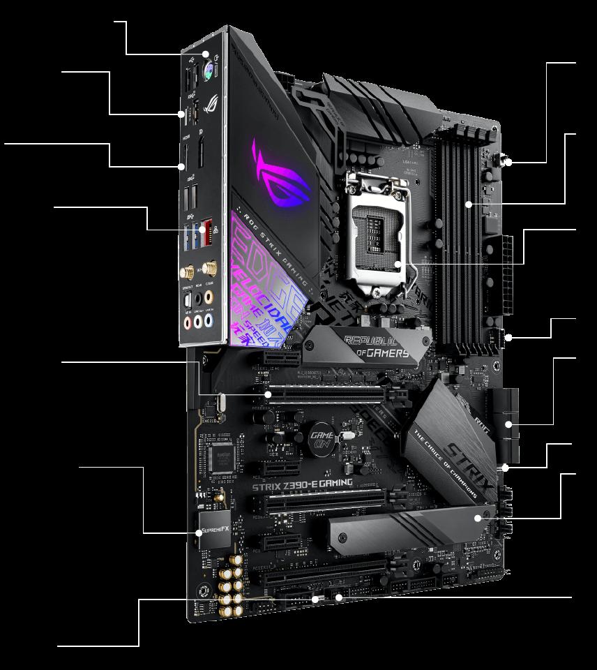 Placa Mãe Asus Rog Strix Z390-E Gaming, Intel LGA 1151, ATX, DDR4