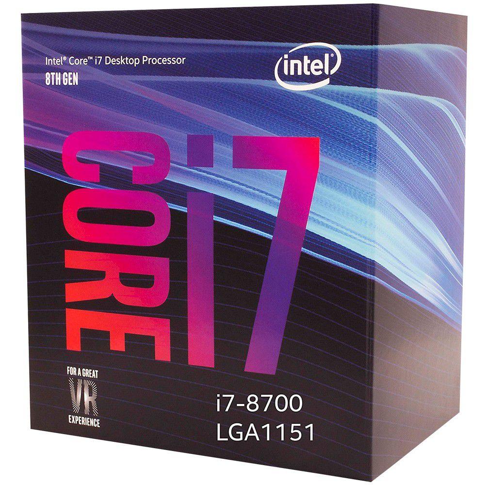 Kit Gamer Placa Mãe Asus ROG STRIX B360-F GAMING + Intel Core i7-8700