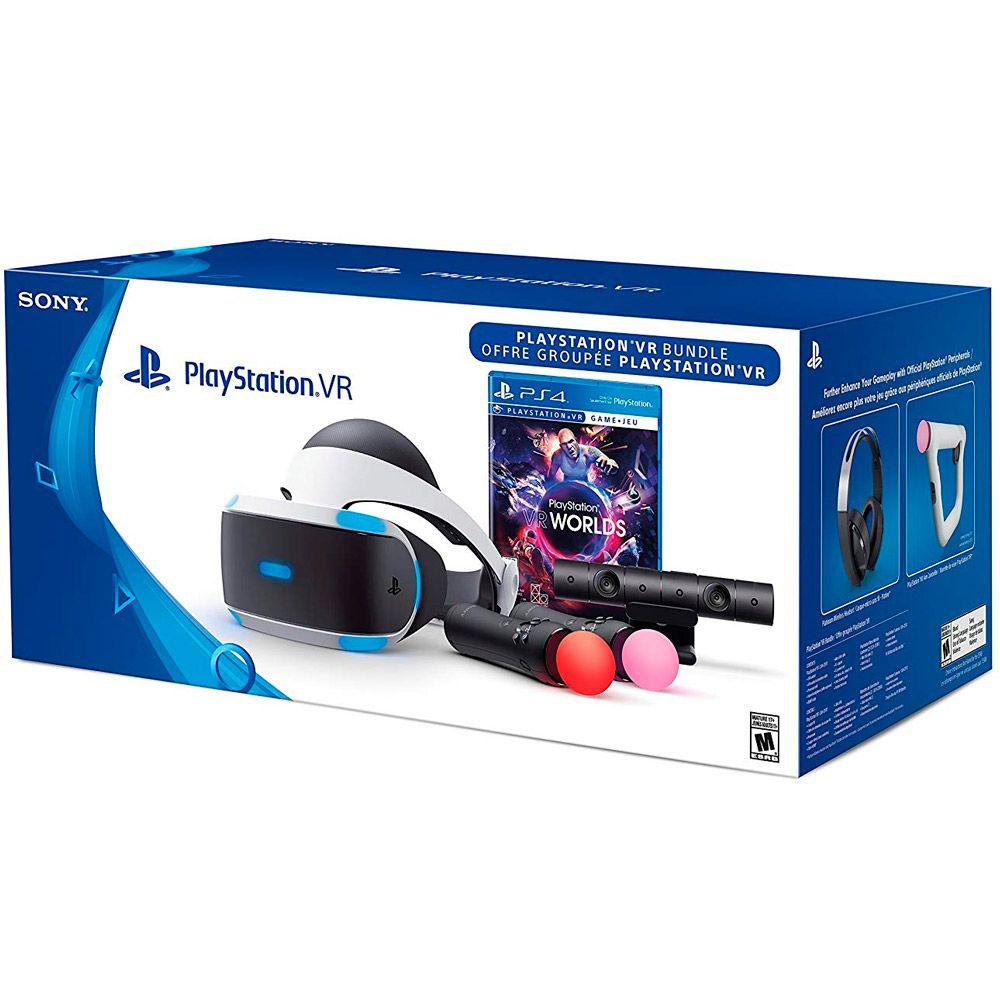 0185968e22e2d Kit Óculos Sony Playstation VR PS4 + Jogo + Câmera + 2 Movies - CUH ...