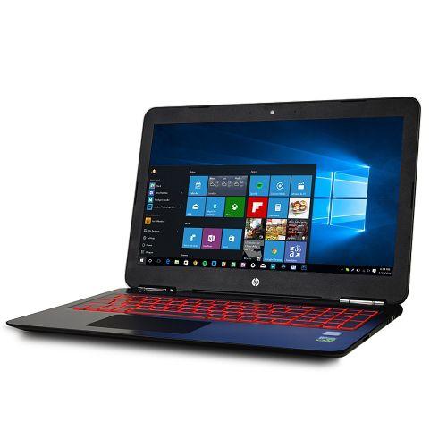 "Notebook HP Gaming Omen 15-AX200 I7-7700HQ 2.8GHz,  8Gb DDR4, 1Tb, GTX 1050 4Gb, 15.6""Full HD IP / Webcam / Windows 10 Inglês - Preto"