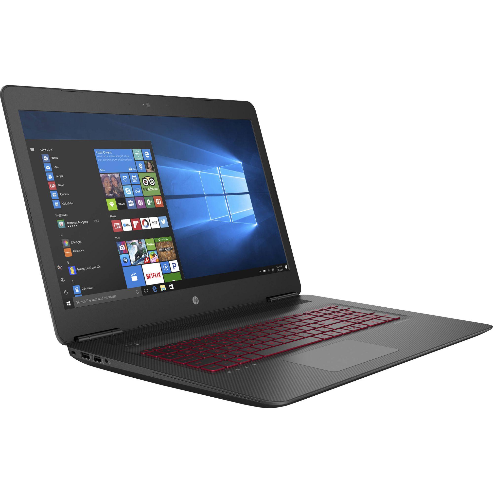 "Notebook HP Gaming Omen 17-W210NR I7-7700HQ 2.8GHz, DDR4 8GB, 1TB+ 128 SSD M.2, 17.3"" Full HD, GTX 1050 TI"