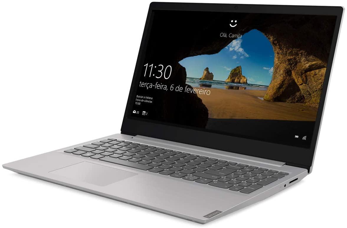 "Notebook Lenovo Ultrafino ideapad S145-15IGM, Intel Celeron, 4GB, 500GB, Linux, 15.6"", 81WTS00100 - Prata"
