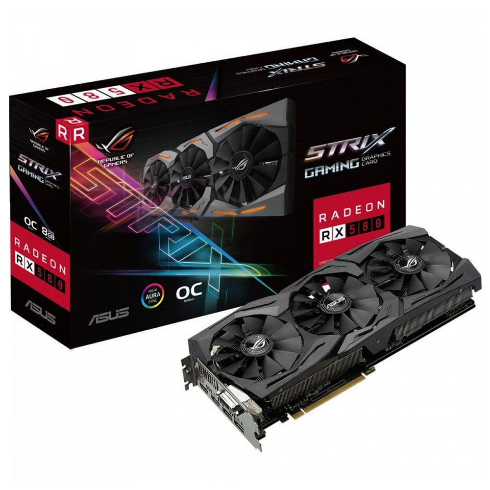 Placa De Vídeo Asus Radeon RX 580 Strix OC 8GB