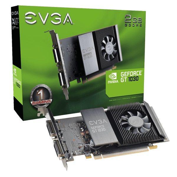 PLACA DE VÍDEO EVGA GT 1030 SC 2GB GDDR5 VGA 64 bit