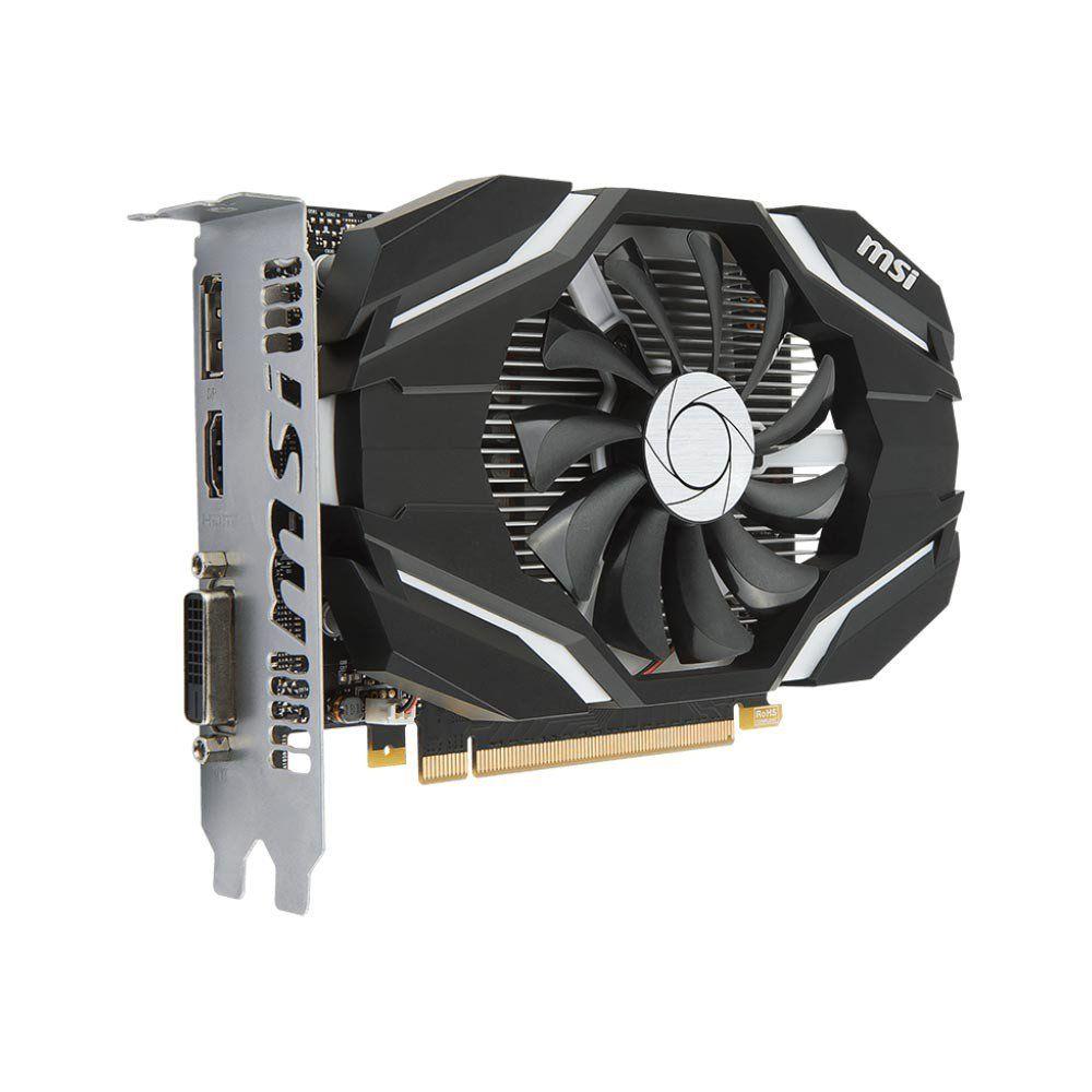 Placa de Vídeo MSI GeForce GTX 1050 Ti 4G OC GDDR5