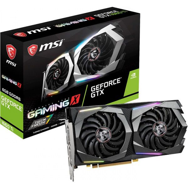 Placa De Vídeo MSI GeForce GTX 1660 GAMING X 6GB GDDR6