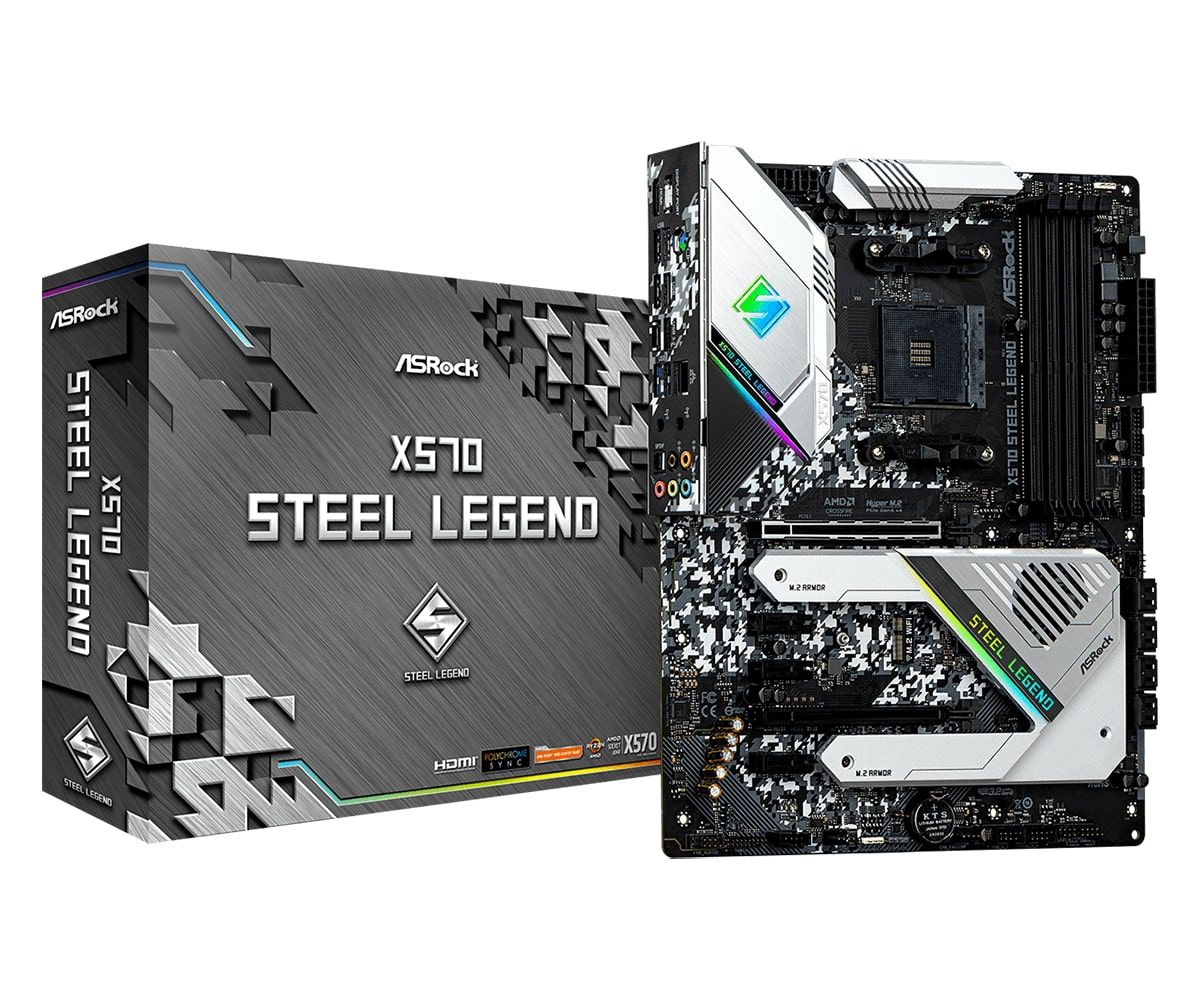 Placa Mãe Asrock X570 Steel Legend, Chipset X570, AMD AM4, DDR4