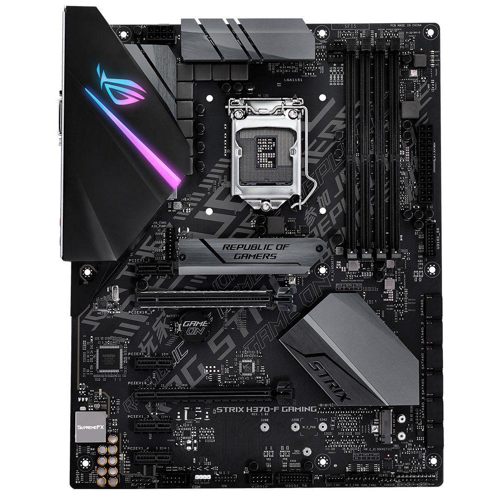 Placa Mãe ASUS H370-F Rog Strix Gaming LGA 1151, HDMI,TYPE C, DDR4 - Oitava Geração