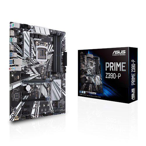 Placa Mãe Asus Prime Z390-P, Chipset Z390, Intel LGA 1151, 4xDDR4