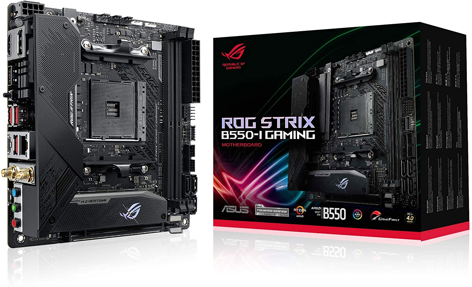 Placa Mãe ASUS ROG Strix B550-I Gaming, AMD AM4, WI-Fi, Mini-ITX, DDR4