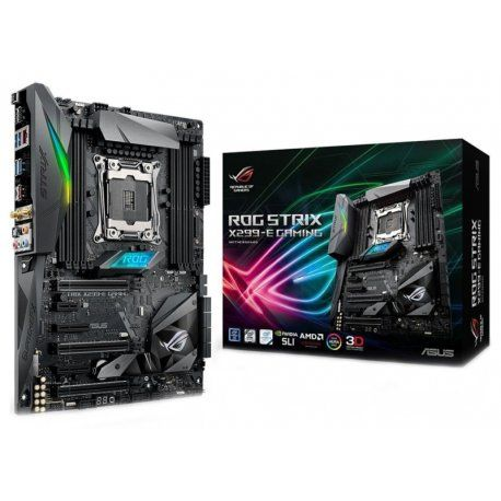 Placa Mãe Asus ROG Strix X299-E Gaming LGA 2066, 8x DDR4, PCI-E, USB, SATA, BT, WiFi