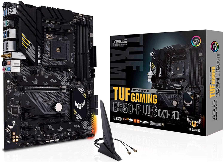 Placa-Mãe Asus TUF Gaming B550-Plus Wi-Fi, AMD AM4, ATX, DDR4