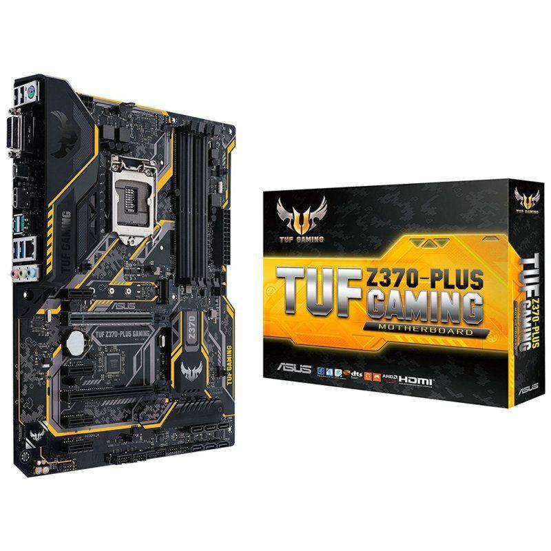 Placa Mãe Asus Tuf Z370 - Plus Gaming LGA 1151, 4x DDR4, 2x M.2, DVI-D, HDMI, USB, SATA - Oitava Geração