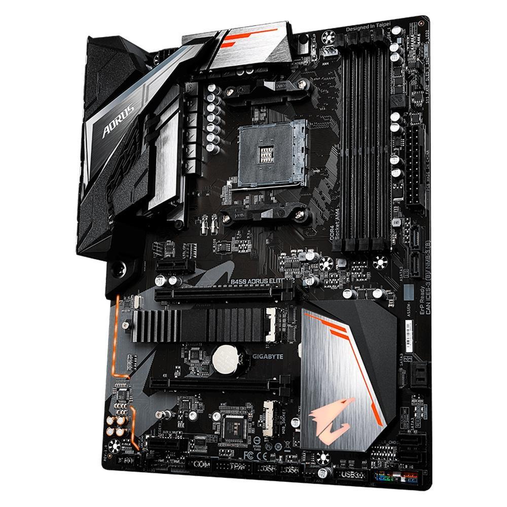 Placa Mãe Gigabyte Aorus B450 Elite V2, AMD, ATX, RGB, DDR4