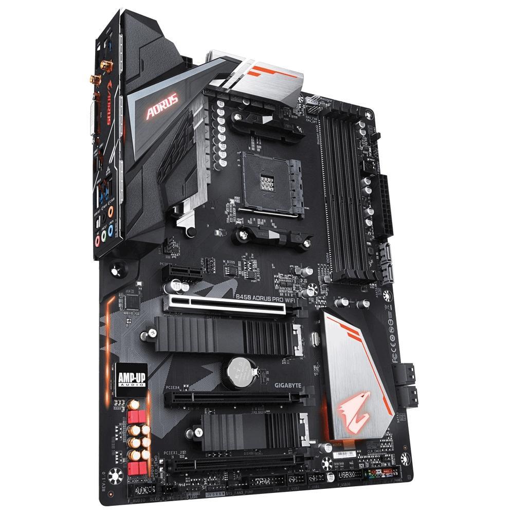 Placa Mãe Gigabyte B450 Aorus PRO WIFI, AMD AM4, ATX, DDR4