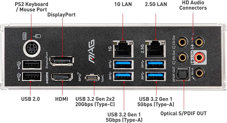 Placa Mãe MSI MAG B460 Tomahawk, Intel LGA 1200, ATX, RGB