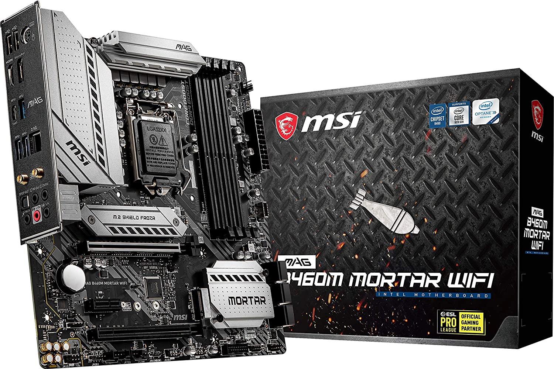 Placa Mãe MSI MAG B460M Mortar WIFI, LGA 1200, mATX, DDR4