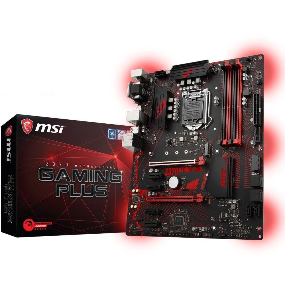 Placa Mãe MSI Z370 GAMING PLUS, LGA 1151, Chipset Intel Z370