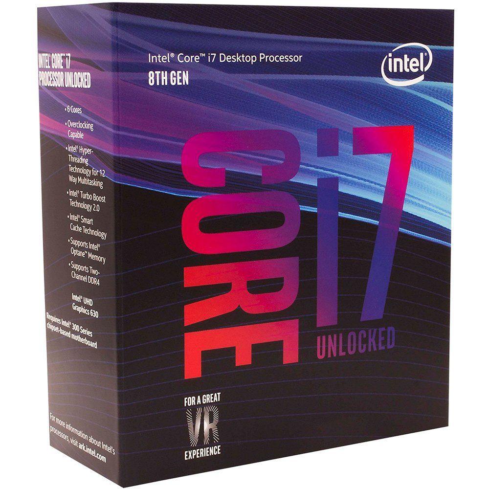 Processador Intel Core i7 LGA 1151 i7-8700K 3.7GHz 12MB Cache