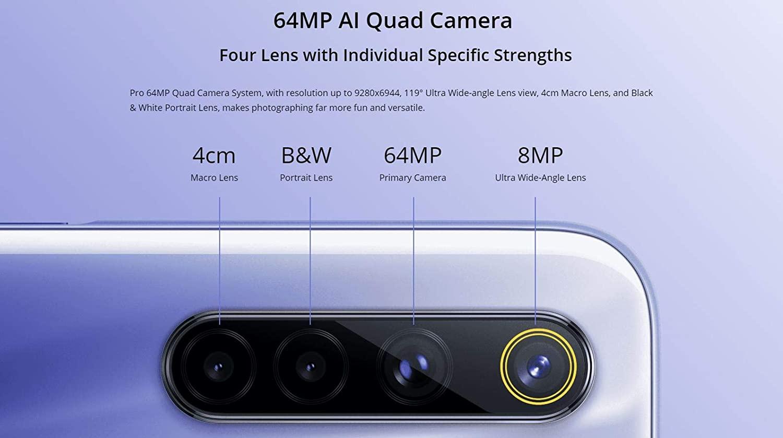 Smartphone Realme 6 128GB, 4GB Ram, Tela 6.5', 64MP