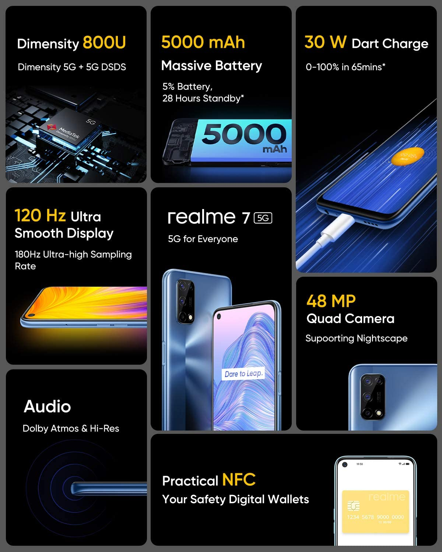 "Smartphone Realme 7, Tela 6.4"" 8GB Ram, 128GB, 48MP"