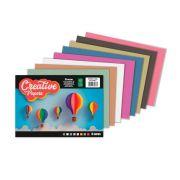 Bloco de Papel Creative Papers 8 Cores 40 Folhas 80g -  Foroni