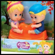 Boneca Little Dolls Playground Gangorra - Diver Toys
