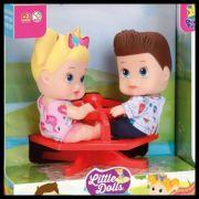 Boneca Little Dolls Playground Gira Gira - Diver Toys