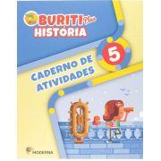Buriti Plus História 5 Caderno de Atividades - Capa Comum - Ed Moderna