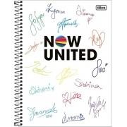 Caderno Universitário Now United 10x1 Espiral Capa Dura - 160 folhas - Tilibra