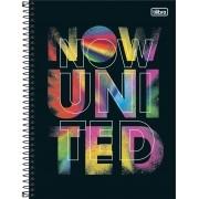 Caderno Universitário Now United 1x1 Espiral Capa Dura - 80 folhas - Tilibra